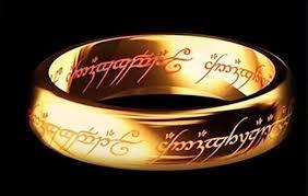 Anel - Senhor Dos Anéis - Tungstênio Folheado A Ouro