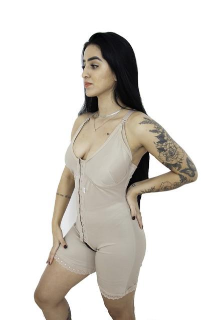 Body Modelador Amamentação Com 2 Barbatanas Cinta Pós Parto - (M20)