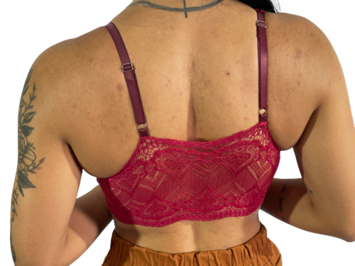 Cropped Com Decote Bojo Regata Blusinha Renda Feminino R11