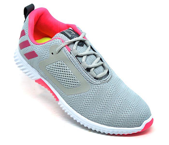 Tênis Feminino Adidas ClimaCool Cinza e Rosa