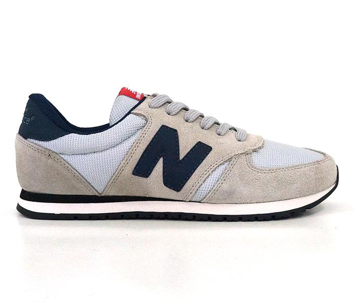 Tênis New Balance 420 Couro Areia e Azul Marinho
