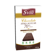 BARRA DE CHOCOLATE 70% ZERO AÇÚCAR SVILI