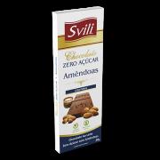 Barrinha Chocolate com Amêndoas Zero Açúcar SVILI