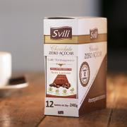 BARRINHA DE CHOCOLATE COM CAFÉ TERMOGENICO ZERO AÇÚCAR 12 UNIDADES