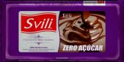 Barra de Chocolate Meio Amargo Zero Açúcar 1kg SVILI