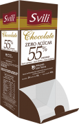 Display Chocolate 55% sem Lactose Zero Açúcar SVILI