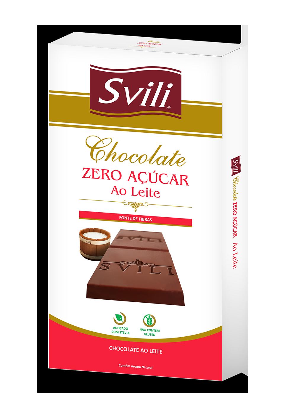 BARRA DE CHOCOLATE AO LEITE ZERO AÇÚCAR