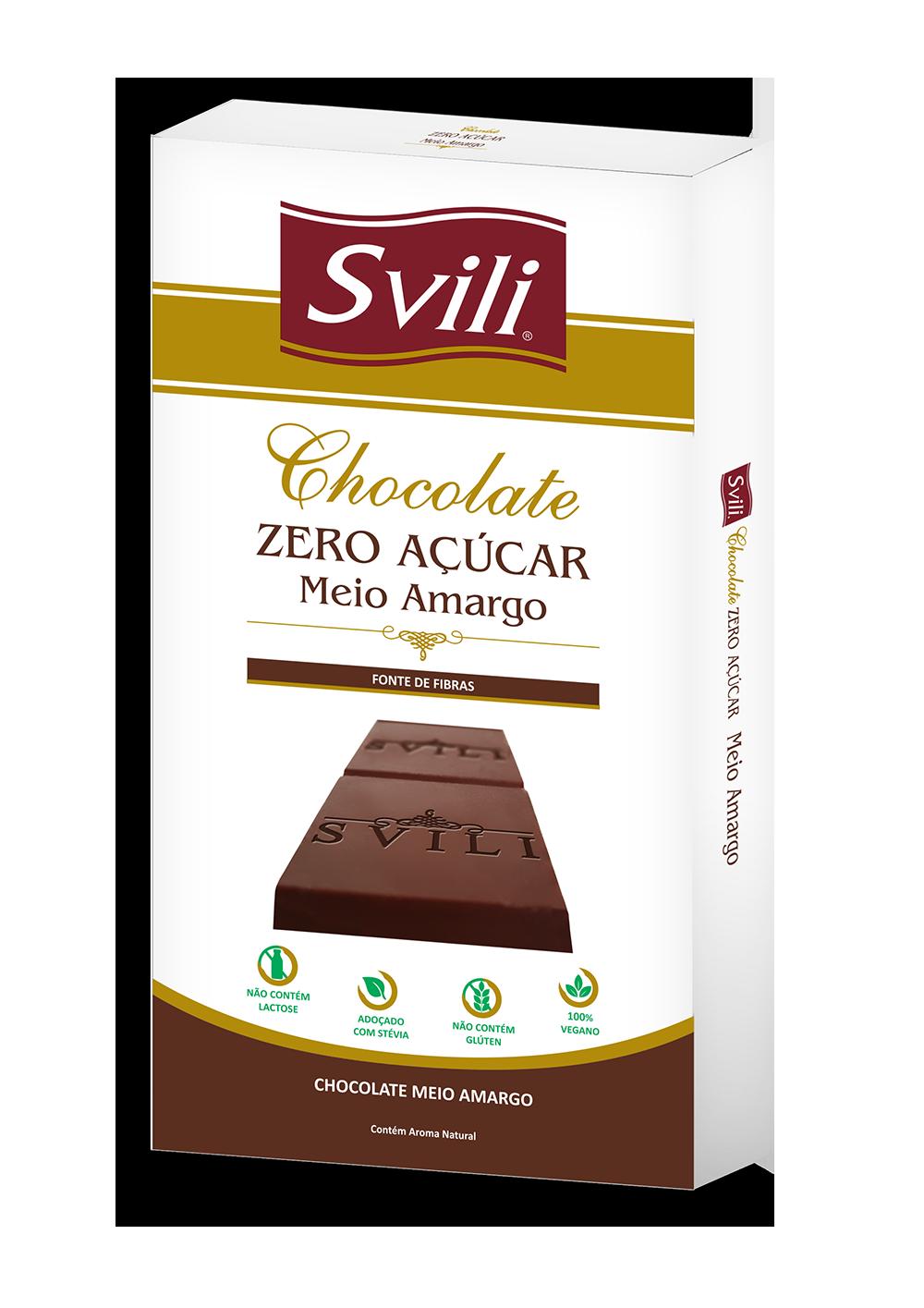 BARRA DE CHOCOLATE MEIO AMARGO ZERO AÇÚCAR