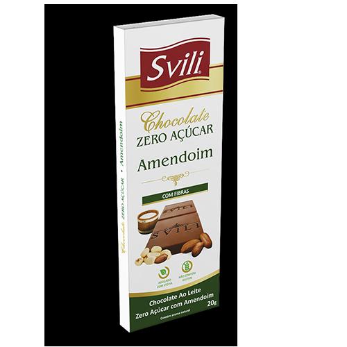 Barrinha Chocolate com Amendoim Zero Açúcar SVILI