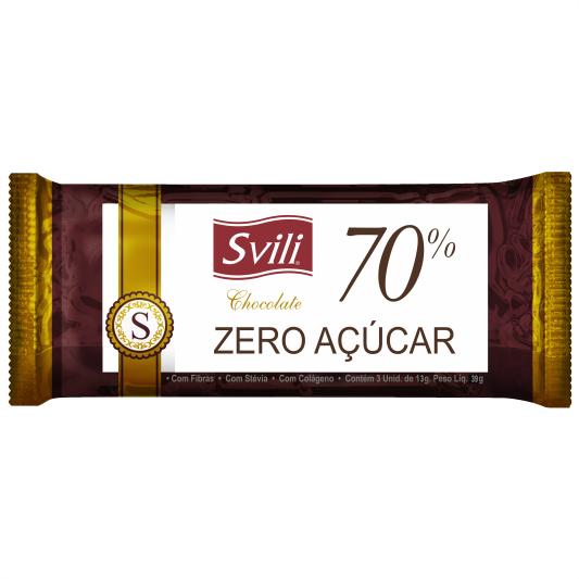 Chocolate 70% sem Lactose - Pack com 3 unid