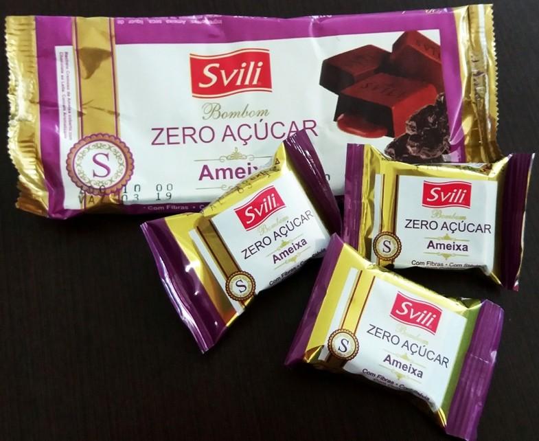 Bombom Ameixa Zero Açúcar - Pack com 3 unid