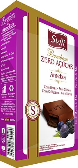 Bombom Ameixa Zero Açúcar SVILI