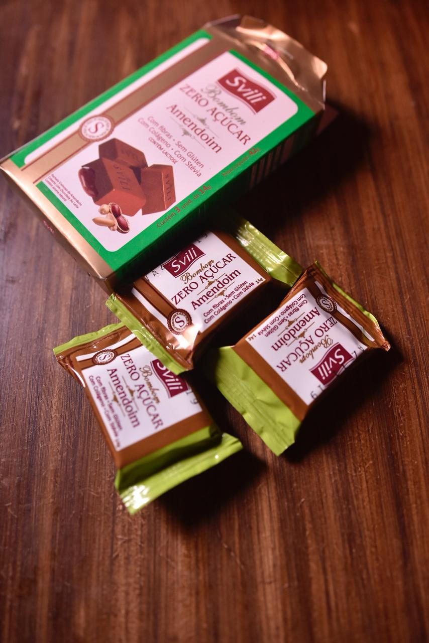 Bombom Amendoim Zero Açúcar SVILI