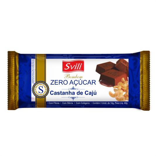 Bombom Castanha de Cajú Zero Açúcar - Pack 3 unid