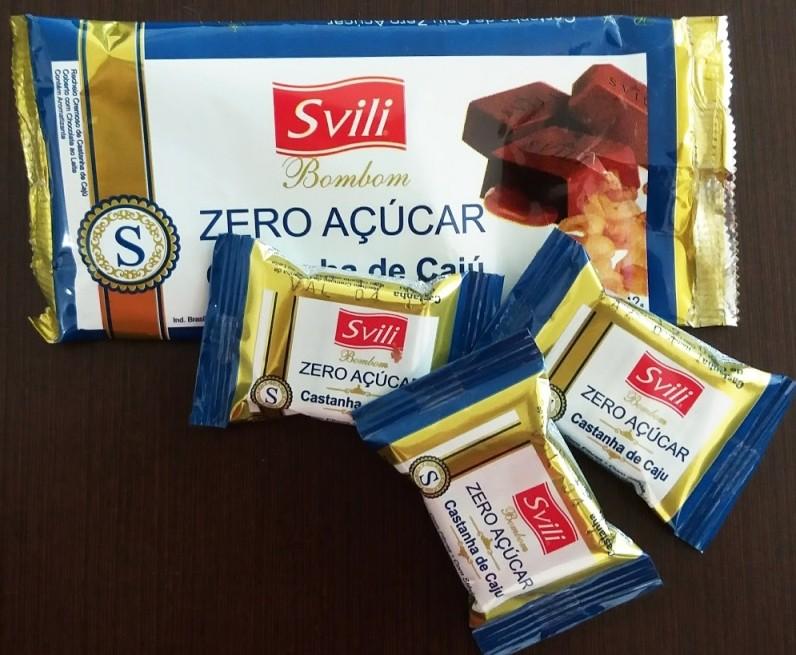 Bombom Castanha de Cajú Zero Açúcar - Pack com 3 unid
