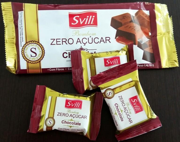 Bombom Chocolate Zero Açúcar - Pack 3 unid