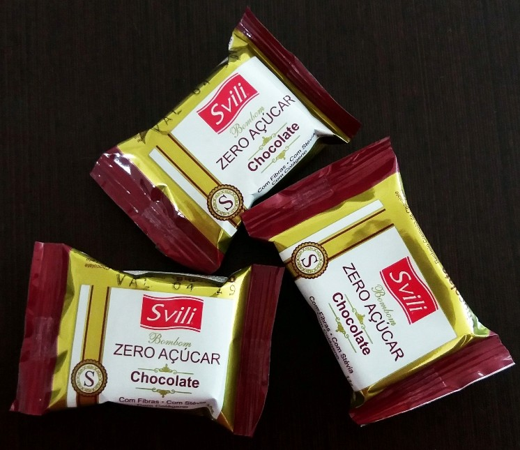Bombom Chocolate Zero Açúcar - Pack 3 und
