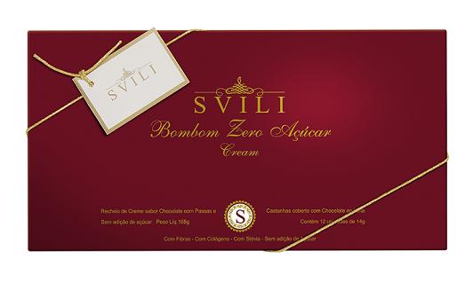 Caixa Presente Bombom Chocolate Zero Açúcar SVILI