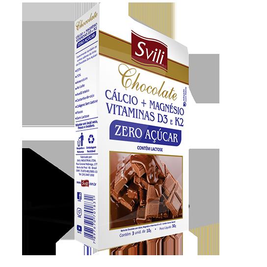Chocolate Cálcio + Magnésio Zero Açúcar SVILI