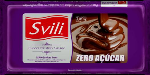Barra de Chocolate Meio Amargo Zero Açúcar 1kg