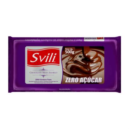 Barra de Chocolate Meio Amargo Zero Açúcar 500g SVILI