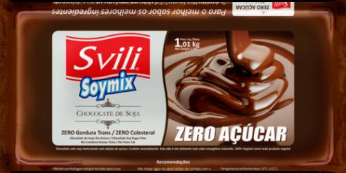 Barra de Chocolate sem Lactose Zero Açúcar 1kg