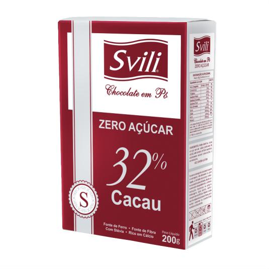 CHOCOLATE EM PO 32% ZERO 200G - SVILI