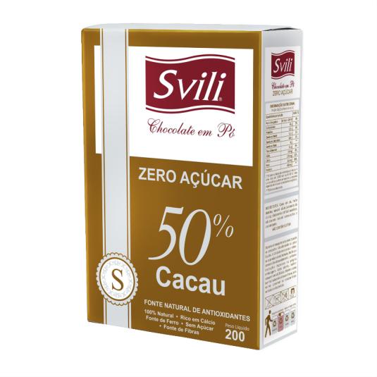 Chocolate em Pó 50% Zero Açúcar SVILI