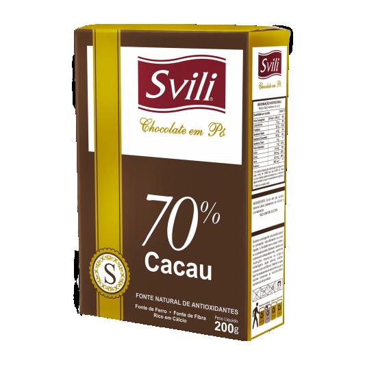 CHOCOLATE EM PO 70% 200G - SVILI