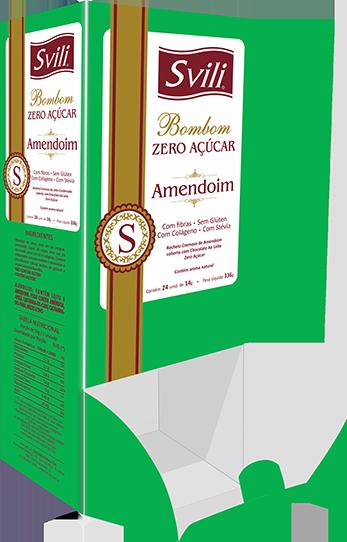 Display Bombom Amendoim Zero Açúcar - 24 und