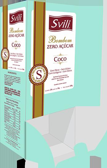 Display Bombom Coco Zero Açúcar SVILI