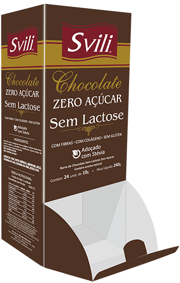 Display Chocolate Sem Lactose - 24 und