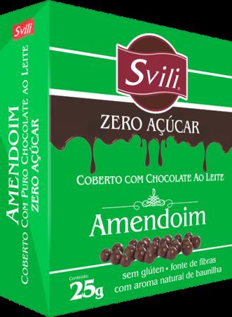 Drageado de Amendoim Zero Açúcar SVILI