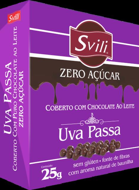 Drageado de Uva Passa Zero Açúcar SVILI