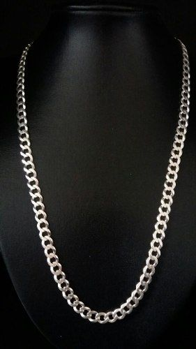 Corrente Prata 925 Maciça Grumet 60 Cm 7,4 Mm 30 Gramas