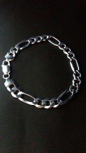 Pulseira Masculina - Prata 925 - 3x1 - 21,5 Cm - 15,4 Gramas