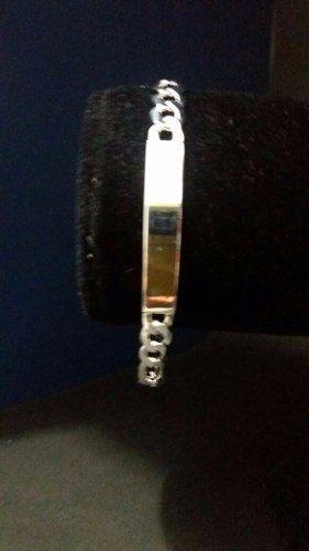 Pulseira Prata 925 Elos 3x1 Grumet 10,3 Gr Gravação De Nome