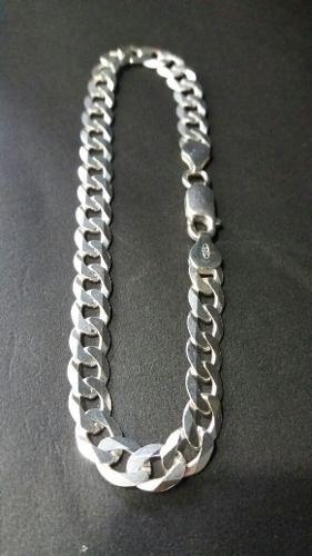 Pulseira Italiana Masculina Grumet 6,7 Mm 21 Cm Em Prata 925