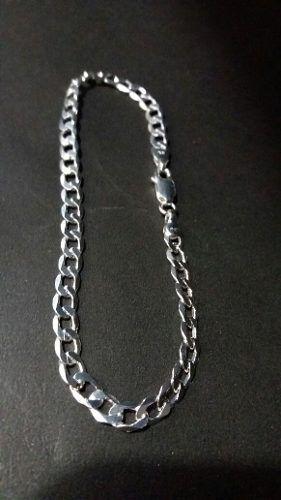 Pulseira Masculina Grumet 4,8 Mm 21 Cm Em Prata 925 Maciça