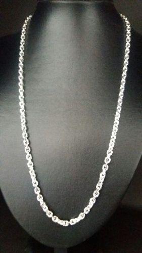 Cordão Prata 925 Maciça Estilo Corrente 60 Cm 5 Mm 39,5 Gr