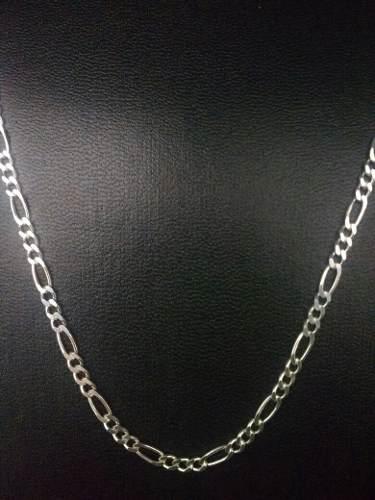 Cordão Corrente Italiana 3 Em 1 3mm X 60cm Em Prata 925
