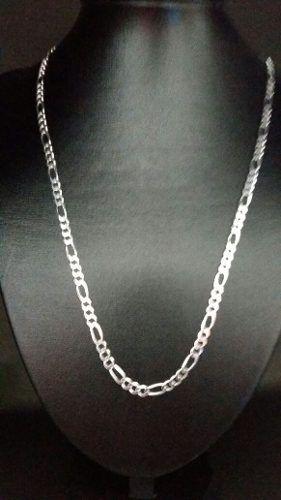 Promoção Corrente Elos 3x1 60 Cm 5 Mm Em Prata Maciça 925