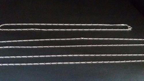 Conjunto 3 Correntes Fina Prata Maciça 925 Elos 3 Em 1
