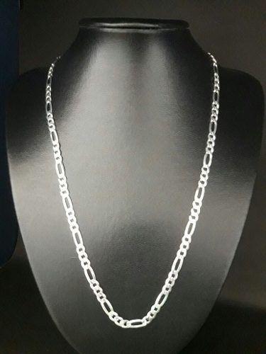 Corrente Elos 3 X 1 60 Cm 5,4 Mm 20 Gramas Prata 925 Maciça