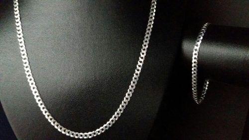 Corrente Grumet Prata 925 70 Cm 4,7 Mm +pulseira 18cm 4,7 Mm