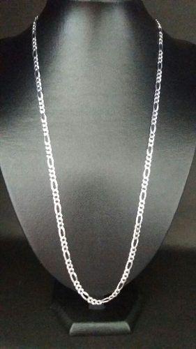 Promoção Corrente Elos 3x1 70 Cm 4,5 Mm Prata 925 Maciça