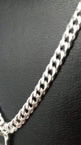 Corrente Masculina Prata Maciça 925 60 Cm X 4,3 Mm Elo Duplo