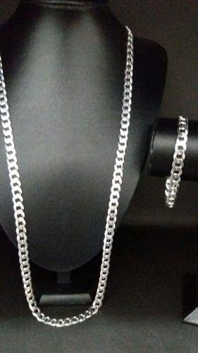 Cordão Corr. Italiano Grumet Prata 925 80cm + Pulseira 21 Cm