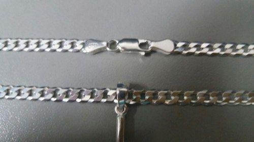 Corrente Grumet 60 Cm 4,5 Mm + Pingente Cruz Em Prata 925