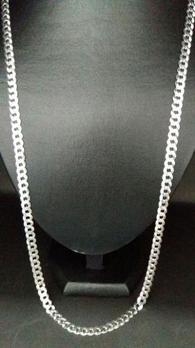 Corrente Cordão Masculino Grumet Grossa 80cm Em Prata 925